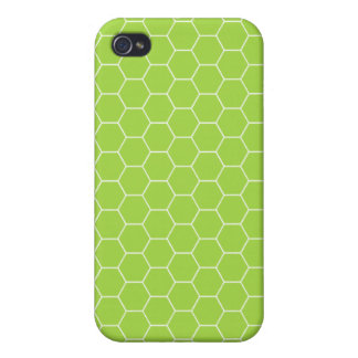 4G Acid Green Honeycomb  iPhone 4 Cover
