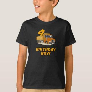 4th Birthday Truck T Shirt - Birthday Shirts