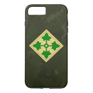 "4th Infantry Division ""Ivy Division"" Dark Camo iPhone 7 Plus Case"