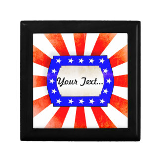 4th July Independence Day Small Square Gift Box