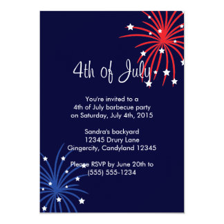 4th of July Barbecue Party Invitation