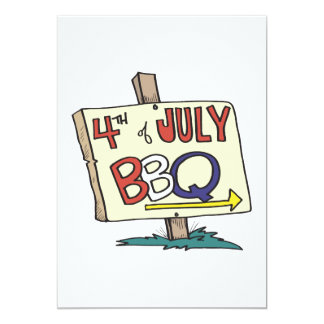 4th Of July Barbeque Card