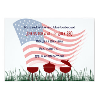 4th of July Barbeque Cookout Card