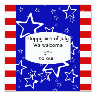 4th of July Barbeque Party Invitation