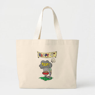 4th Of July BBQ Large Tote Bag