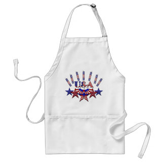 4th of July Crackers Adult Apron