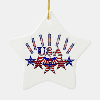 4th of July Crackers Ceramic Star Decoration