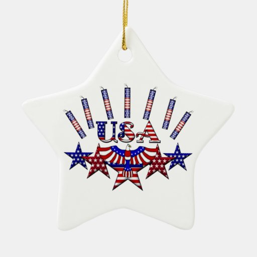 4th of July Crackers Ornaments