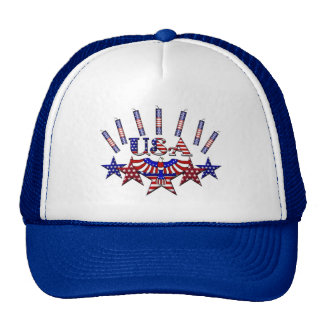 4th of July Crackers Mesh Hats