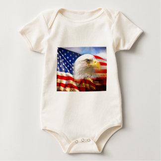 4th of July Flag Baby Bodysuit