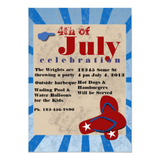 4th of July Independce Day Barbeque Card