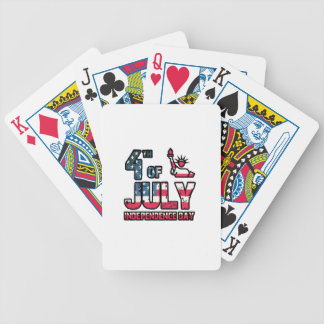 4th of July Independence Day Bicycle Playing Cards