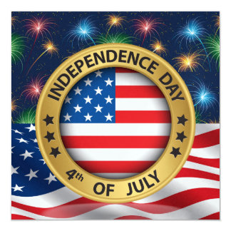 4th of July Independence Day Invitation