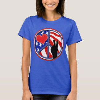 4th Of July Independence Day Peace Love U.S.A. T-Shirt