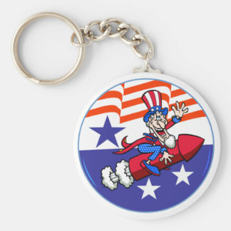 4th Of July Uncle Sam Keychain
