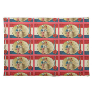 4th of July Uncle Sam Vintage Print Cloth Placemat