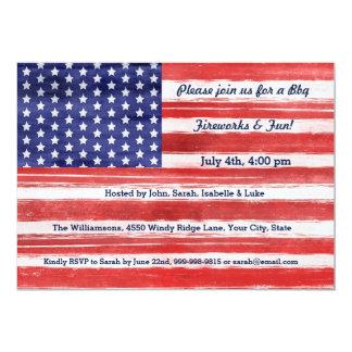 4th of July USA Flag Patriotic Art Stars & Stripes Card