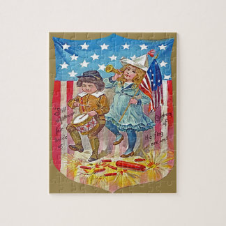 4th of july vintage kids jigsaw jigsaw puzzle