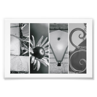 4x6 Love in Black & White Photo Alphabet Letters