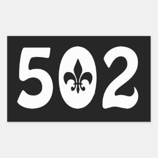 502 RECTANGULAR STICKER