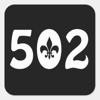 502 SQUARE STICKER