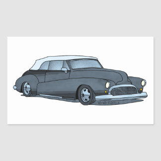 50 Buick Convertible Rectangular Sticker