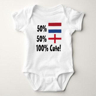 50% Dutch 50% English 100% Cute Baby Bodysuit