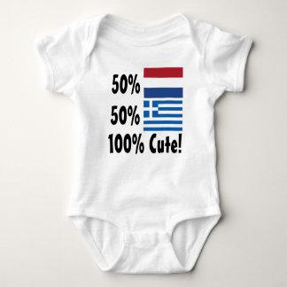 50% Dutch 50% Greek 100% Cute Baby Bodysuit