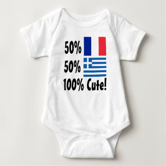 50% French 50% Greek 100% Cute Baby Bodysuit