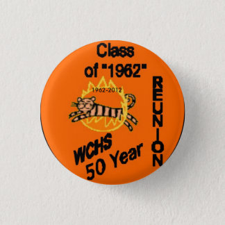 50 Reunion Button, 1962-2012 3 Cm Round Badge