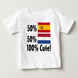 50% Spanish 50% Dutch 100% Cute Baby T-Shirt