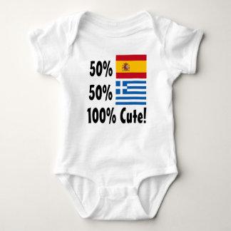 50% Spanish 50% Greek 100% Cute Baby Bodysuit