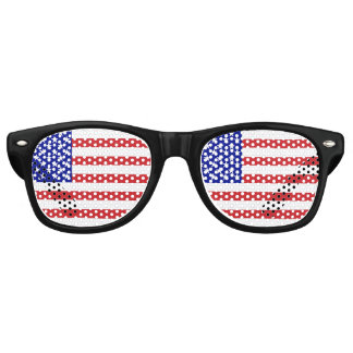 50-Star United States Flag Retro Sunglasses