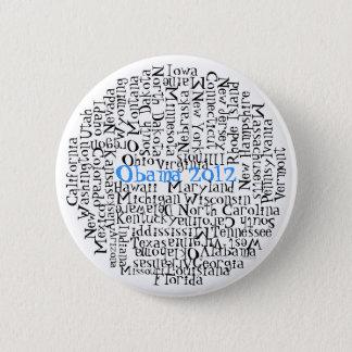 50 States 1 button Obama 2012