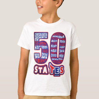 50 STATES THE USA T-Shirt