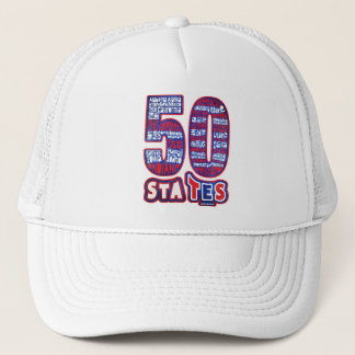 50 STATES THE USA TRUCKER HAT