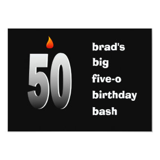 50 With Flame, Big Five-O Bash Invitation