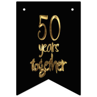 50 Years Together Golden Wedding 50th Anniversary Bunting