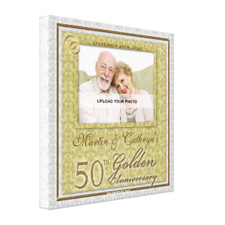 50th Anniversary 16x16 Personalized Photo Canvas Canvas Print