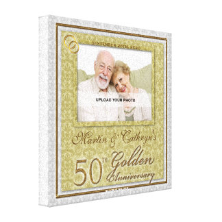 50th Anniversary 8x8 Personalized Photo Canvas Canvas Print