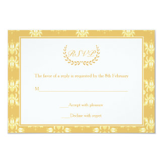 50th Anniversary Damask RSVP Card