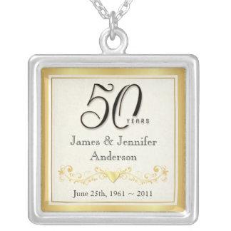 50th Anniversary Elegant Commemorative Pendant