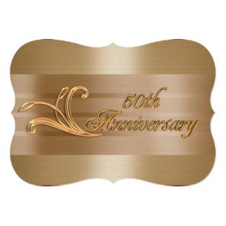 50th anniversary invitation elegant gold