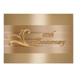 50th anniversary invitation gold