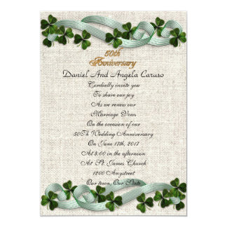 50th Anniversary Invitation Irish theme