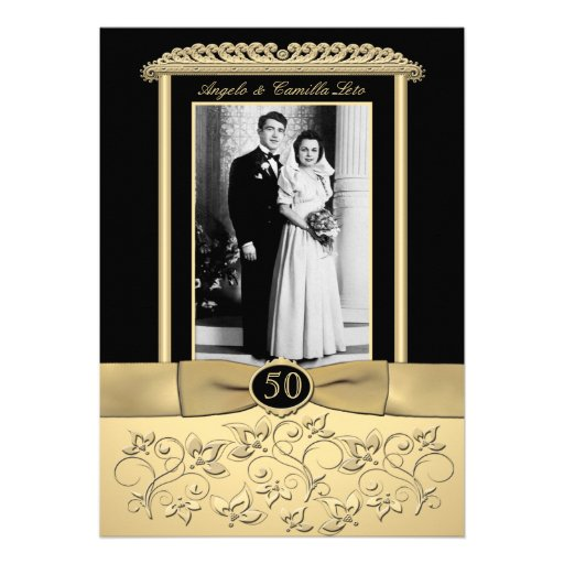 50th Anniversary Invitation with Photo Insert