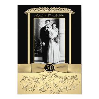 50th Anniversary Invitation with Photo Insert