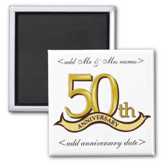 50th Anniversary Party Favors Magnets