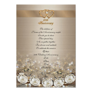 50th anniversary party for parents 13 cm x 18 cm invitation card