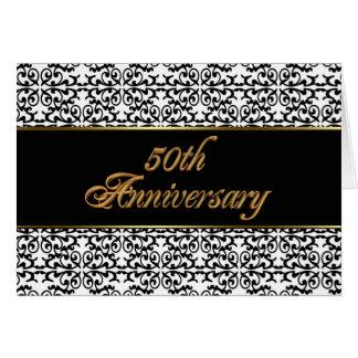 50th Anniversary party invitation elegant